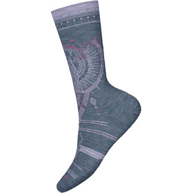 Smartwool Mountain Magpie Crew Socks Dame dark blue steel